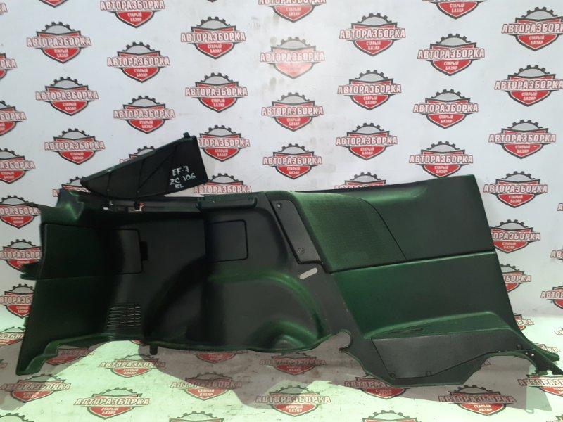 Обшивка багажника Honda Cr-X EF7 ZC 1990 задняя левая (б/у)