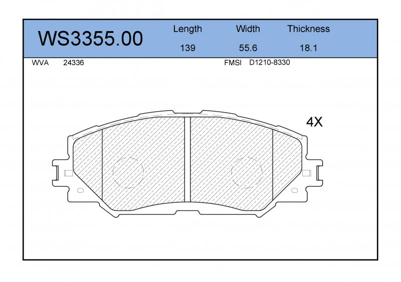 Колодки тормозные Toyota Corolla Fielder NZE141 передние