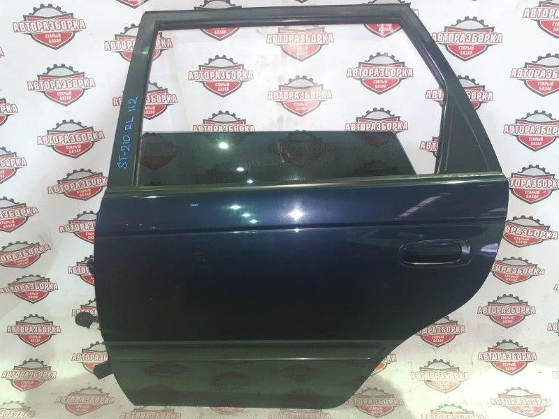 Дверь Toyota Caldina ST210 3S-FE 1999 задняя левая (б/у)