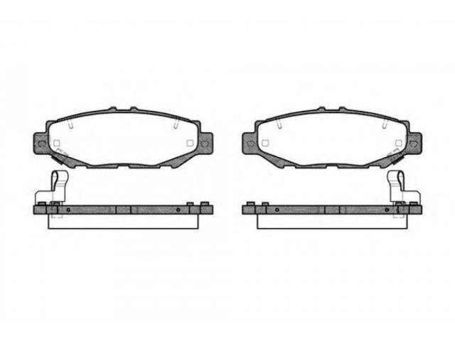 Колодки тормозные Toyota Mark Ii JZX100 задние