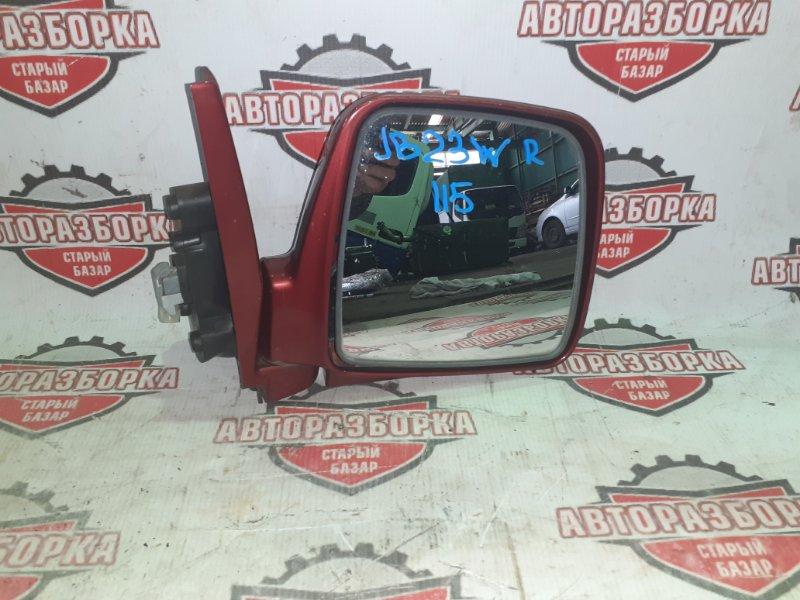Зеркало Suzuki Jimny JB23W K6A 2001 переднее правое (б/у)