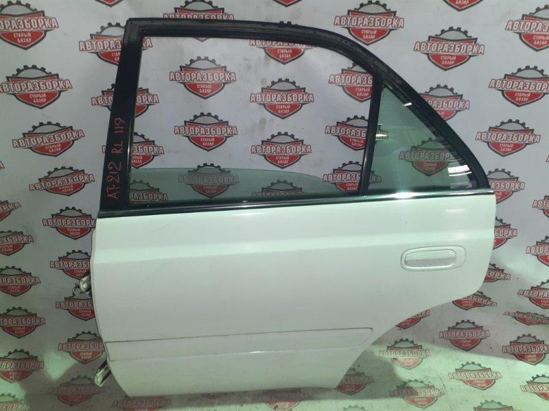 Дверь Toyota Carina AT212 5A-FE 1999 задняя левая (б/у)