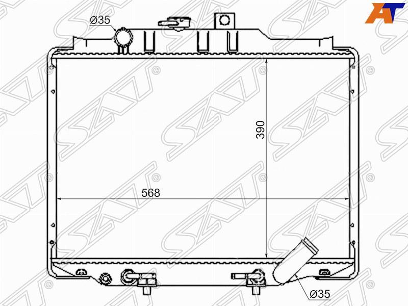 Радиатор охлаждения двигателя Mitsubishi Delica L300 4D56 89