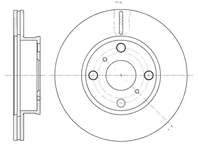 Диск тормозной Toyota Corolla AE92 87 передний