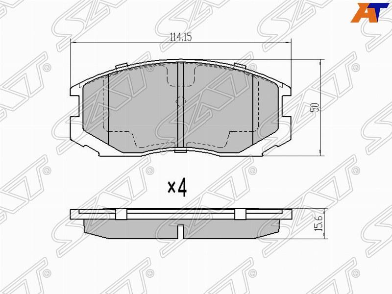 Колодки тормозные Mitsubishi Colt передние