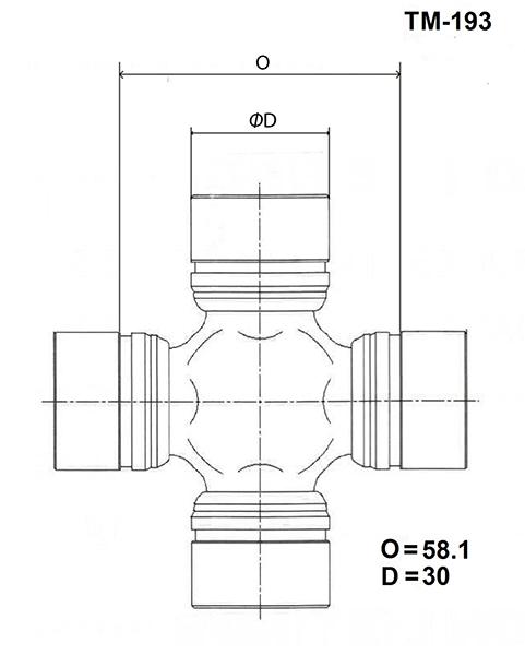 Крестовина кардана Mitsubishi Delica