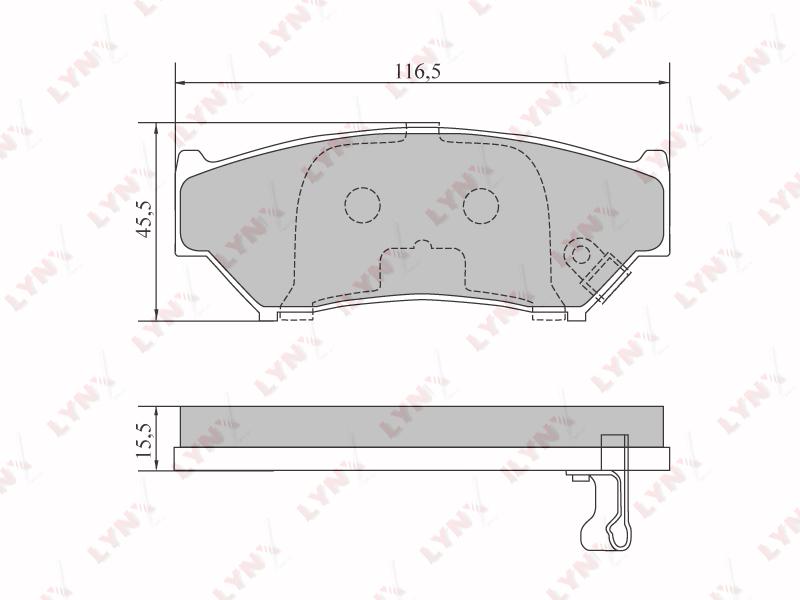 Колодки тормозные Suzuki Grand Vitara TA01