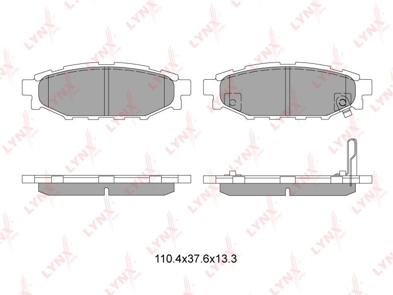 Колодки тормозные Subaru Impreza GE2