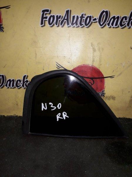 Стекло двери (форточка) Nissan R'nessa N30 заднее правое (б/у)