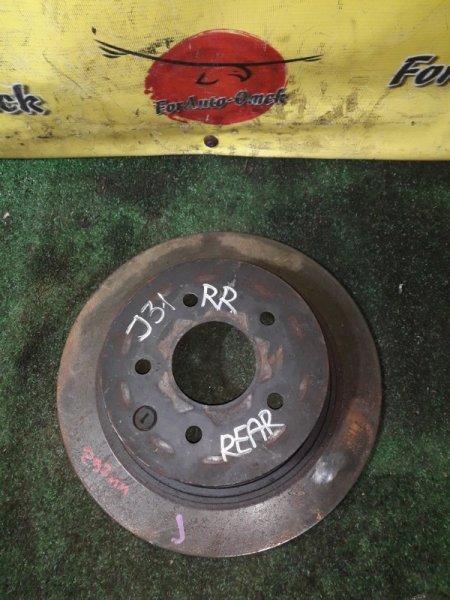 Диск тормозной Nissan 350Z AZE0 задний (б/у)
