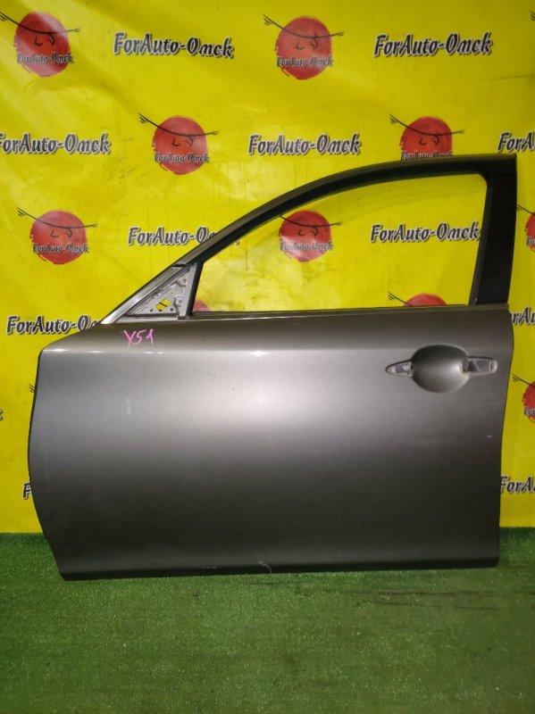 Дверь Nissan Fuga HY51 передняя левая (б/у)