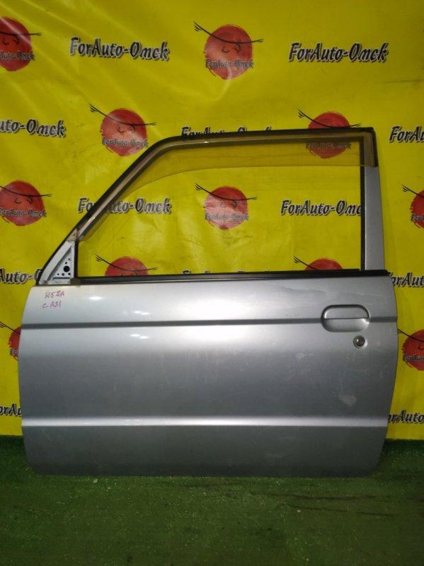 Дверь Mitsubishi Pajero Mini H53A передняя левая (б/у)