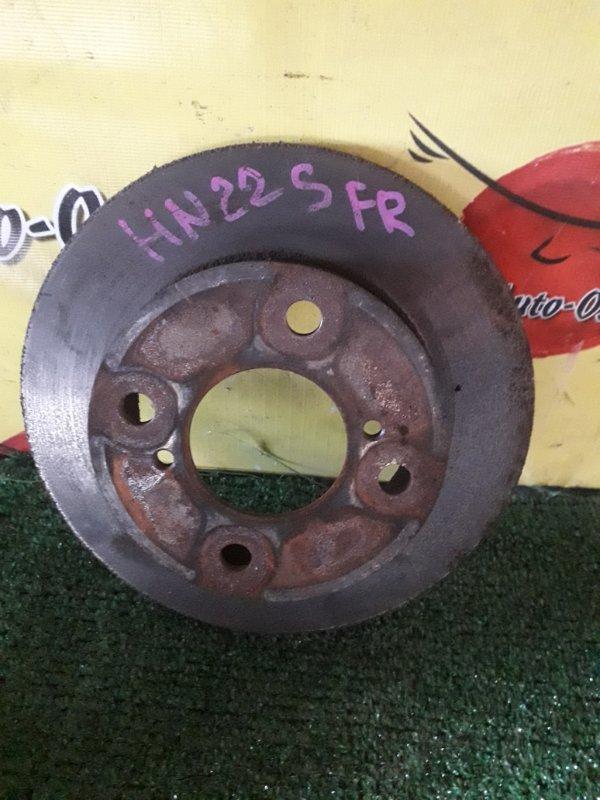 Диск тормозной Suzuki Kei HN22S передний (б/у)