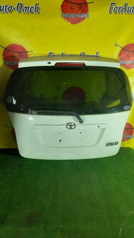 Дверь 5-я Toyota Corolla Spacio NZE121N задняя (б/у)