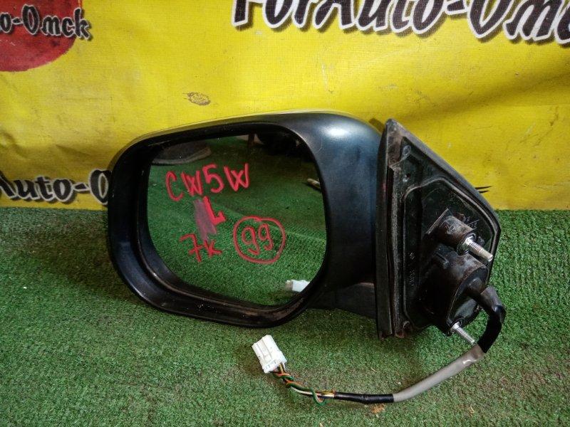 Зеркало Mitsubishi Outlander CW5W 4B12 2007 левое (б/у)