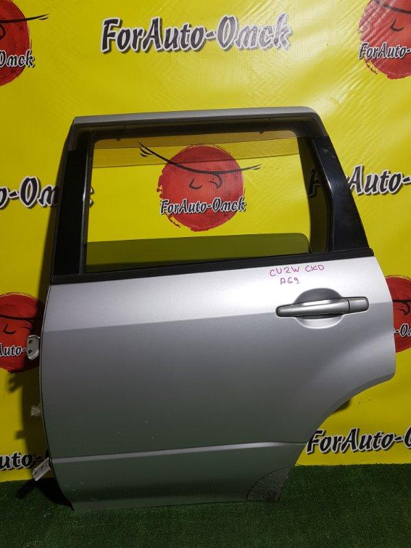 Дверь Mitsubishi Airtrek CU2W 4G63 2001 задняя левая (б/у)