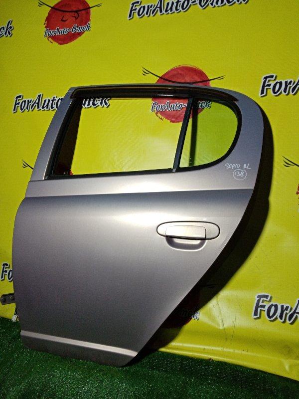 Дверь Toyota Vitz SCP10 1SZ-FE 2000 задняя левая (б/у)