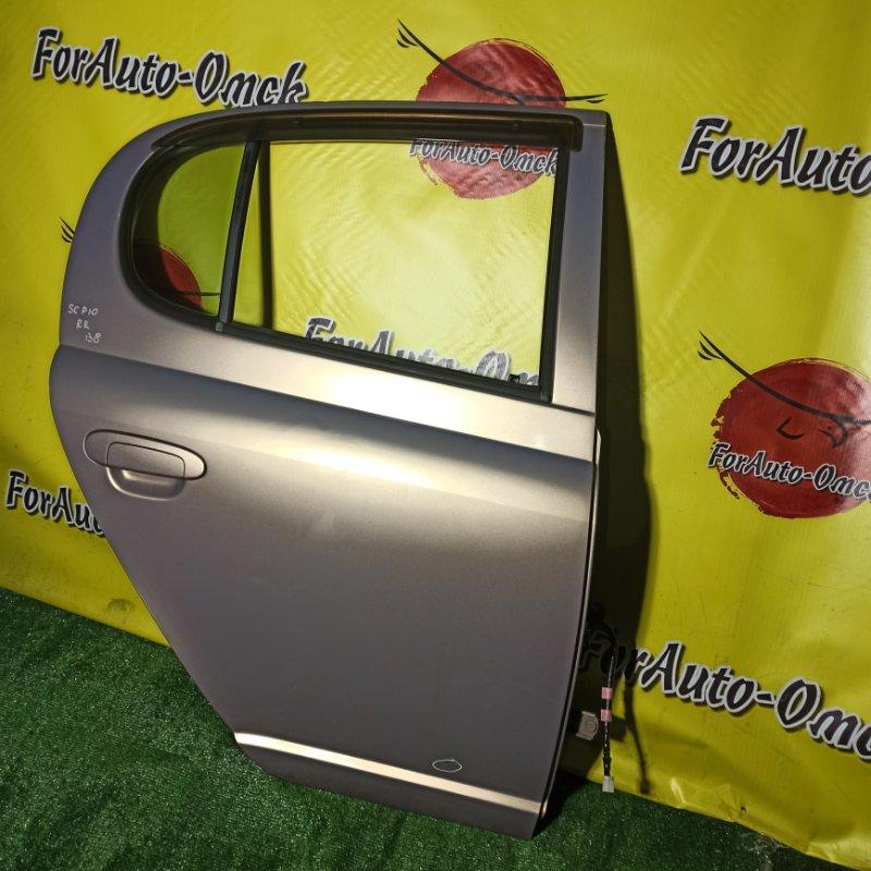 Дверь Toyota Vitz SCP10 1SZ-FE 2000 задняя правая (б/у)