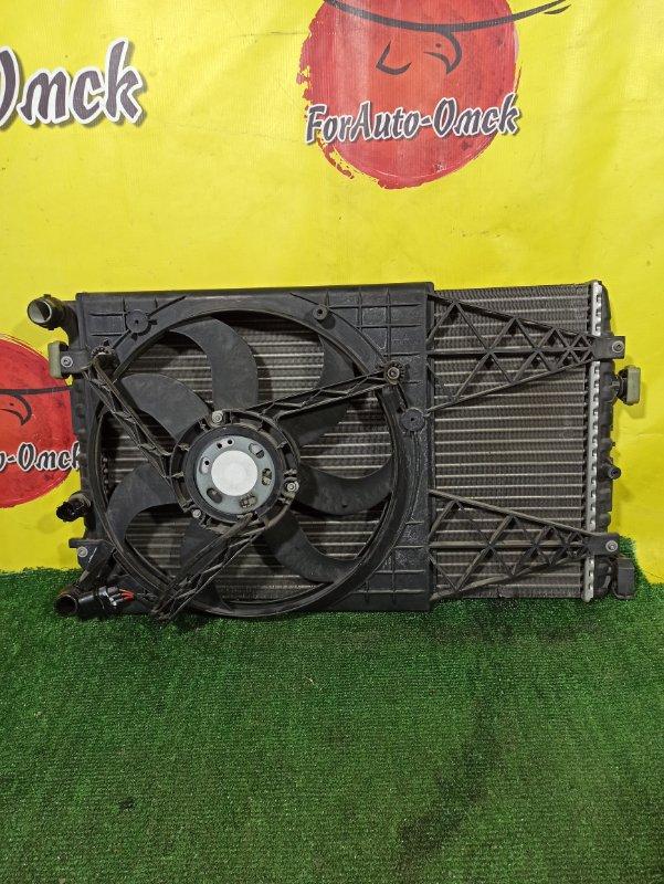 Радиатор двс Volkswagen Golf 9N3 BUD (б/у)