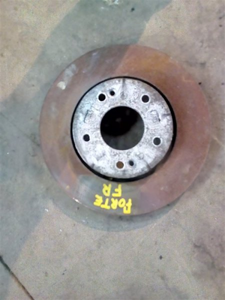 Тормозной диск Kia Forte TD G4FC 2009 передний (б/у)
