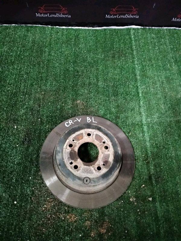 Тормозной диск Honda Cr-V RE3 K24Z6 2011 задний левый (б/у)