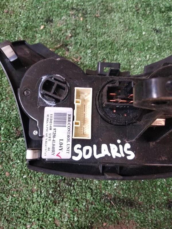 Блок управления климат-контролем Hyundai Solaris RB G4FC 2012 (б/у)
