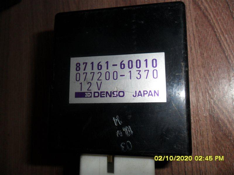 Блок управления климат-контролем Toyota Land Cruiser FZJ80 1FZ-FE 1992 (б/у)