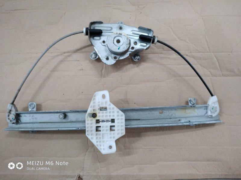 Механизм стеклоподъёмника Hyundai Solaris СЕДАН W09G 2013 задний левый (б/у)