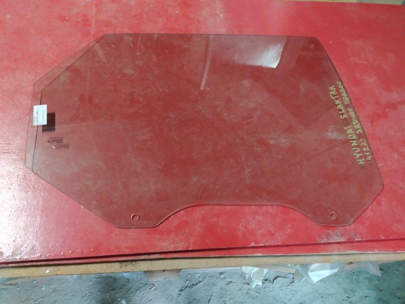 Стекло двери Hyundai Elantra 2000 заднее правое