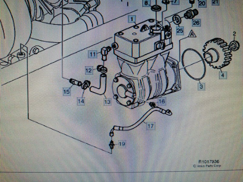 Шланг компрессора Volvo Fh12 D12F430 2006 (б/у)