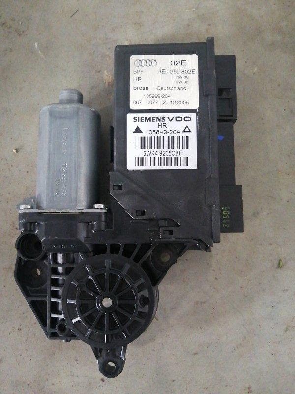 Мотор стеклоподъемника Audi A4 B7 ALT 2004 задний правый (б/у)