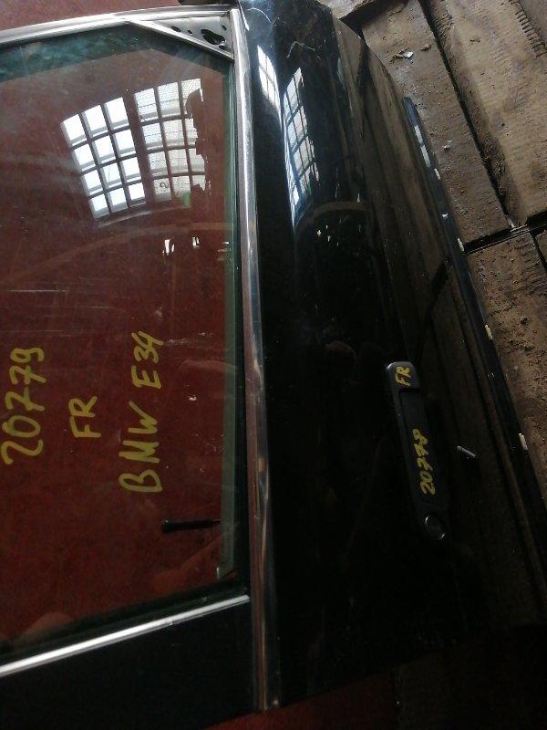Молдинг стекла двери прижимной внешний Bmw 5 Series E34 M51D25 передний правый (б/у)