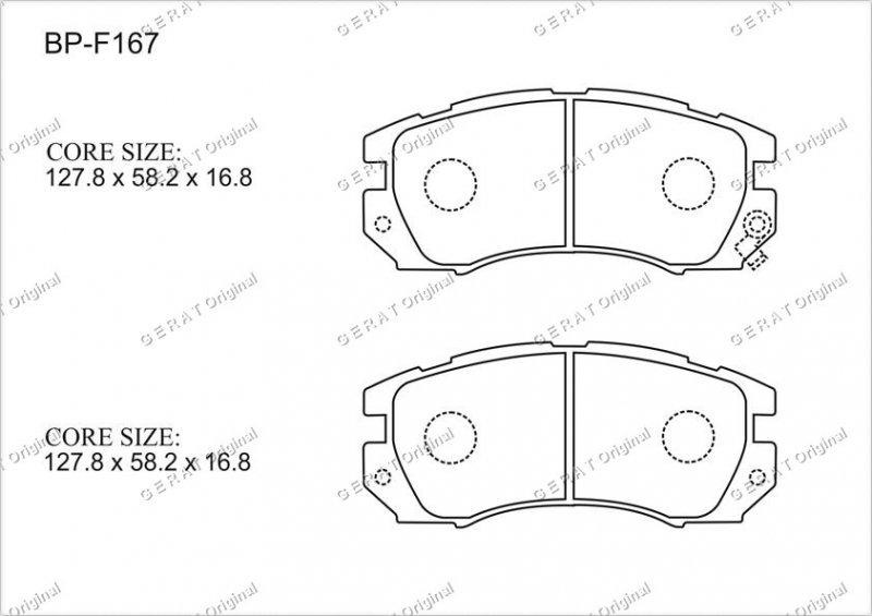 Тормозные колодки передние Subaru Legacy BG 1993 переднее