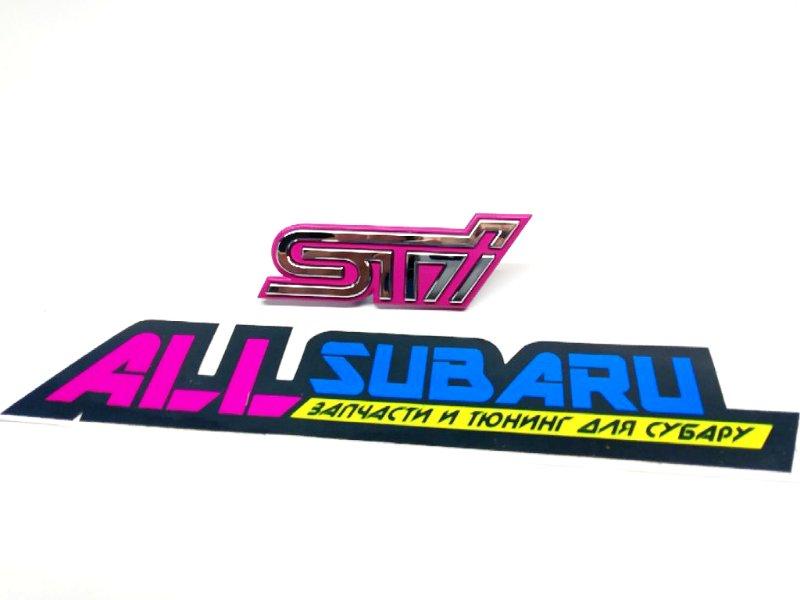 Эмблема, шильдик Subaru Impreza Wrx Sti GD 2002