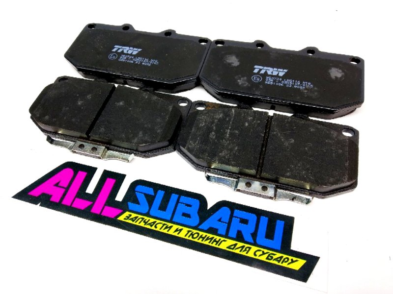 Тормозные колодки передние Subaru Impreza Wrx Sti GC8 1996 переднее