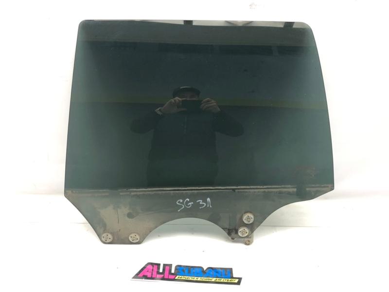 Стекло двери Subaru Forester SG 2002 заднее левое (б/у)