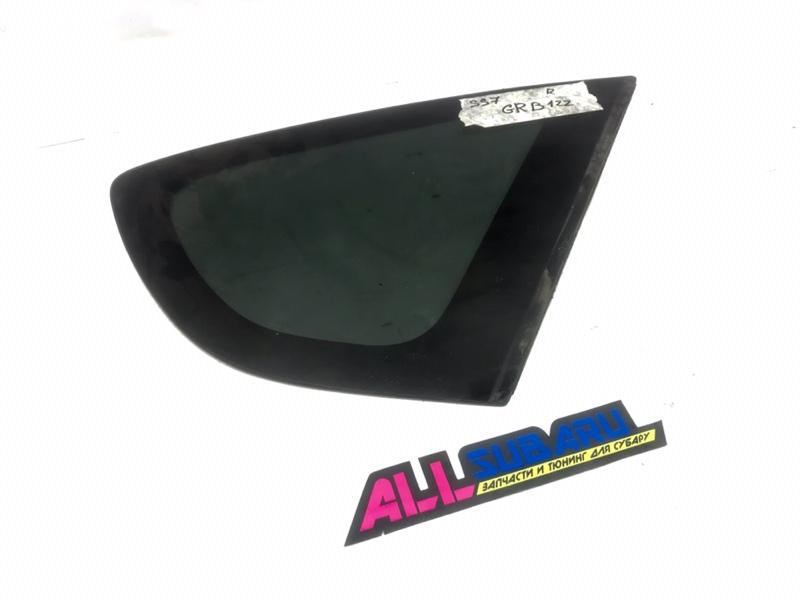 Стекло собачника, форточка Subaru Impreza Wrx Sti GRB 2007 заднее правое (б/у)