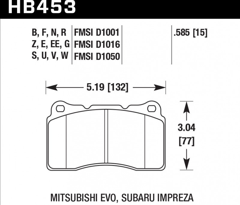 Тормозные колодки передние Subaru Impreza Wrx Sti GDB 2000 переднее
