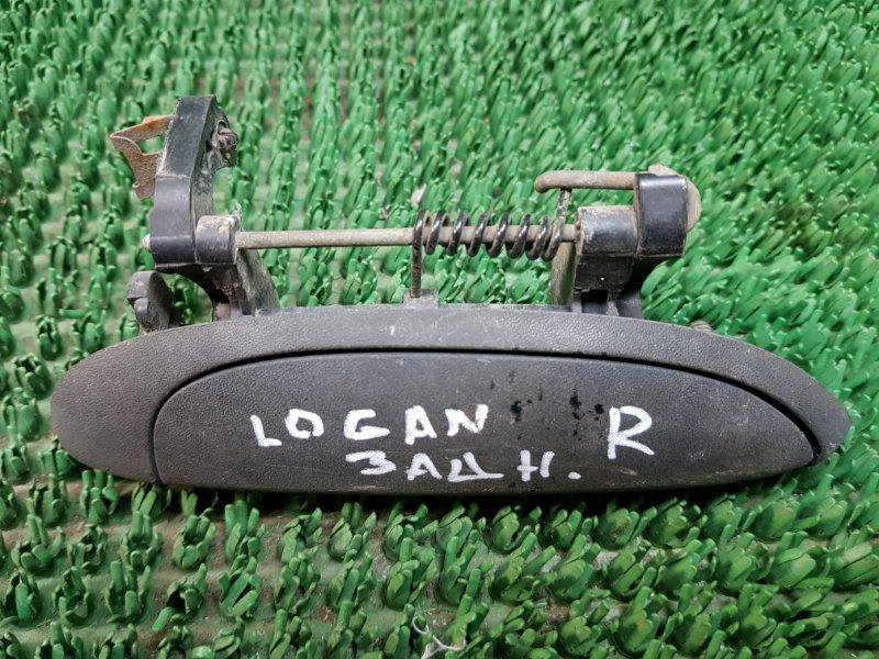 Ручка двери внешняя Renault Logan LS_ 2004 задняя правая (б/у)