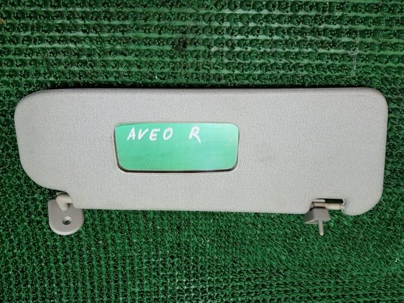 Козырек солнцезащитный Chevrolet Aveo T250 F14D4 2005 правый (б/у)