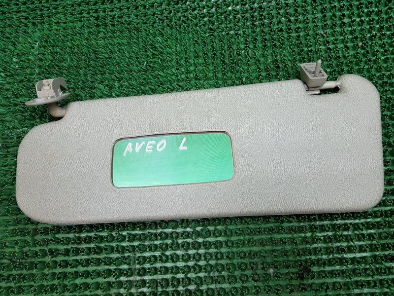 Козырек солнцезащитный Chevrolet Aveo T250 F14D4 2005 левый (б/у)