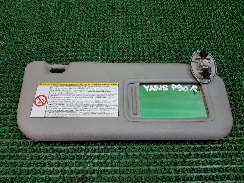 Козырек солнцезащитный Toyota Yaris 2 P90 2SZFE 2005 правый (б/у)