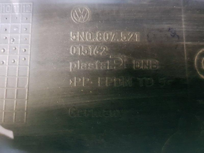 Юбка заднего бампера Volkswagen Tiguan 5N1 BWK 2007 задняя