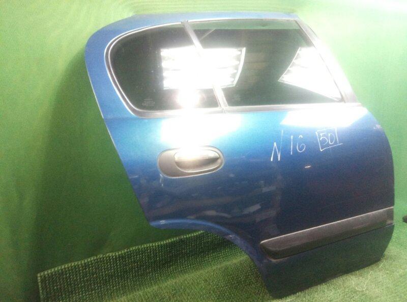 Дверь Nissan Almera N16 N16 QG15DE 2000 задняя правая (б/у)