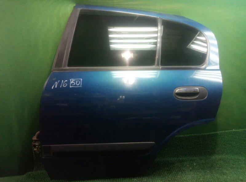 Дверь Nissan Almera N16 N16 QG15DE 2000 задняя левая (б/у)