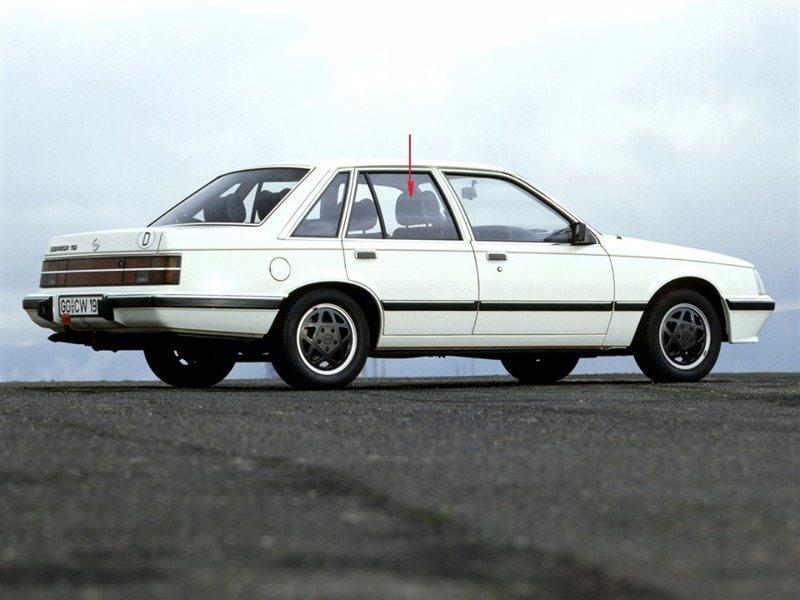 Стекло двери Opel Senator 1978 г. в заднее правое
