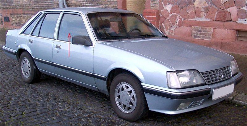 Стекло двери Opel Senator 1978 г. в переднее правое