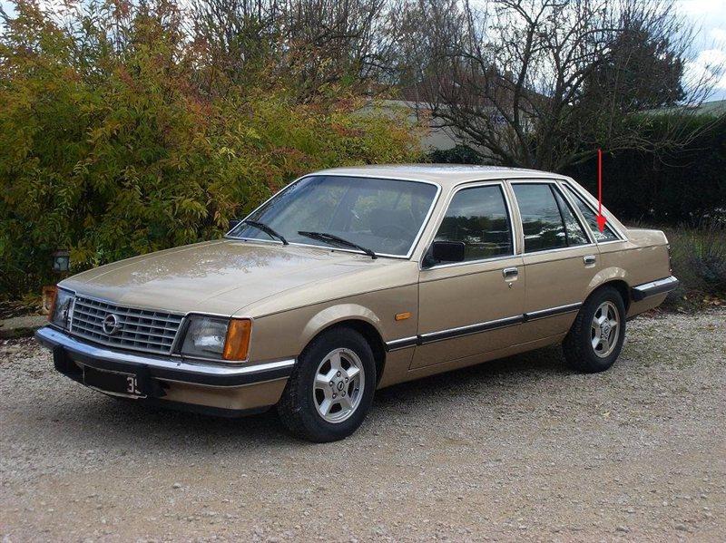 Форточка кузова Opel Senator 1978 г. в задняя левая