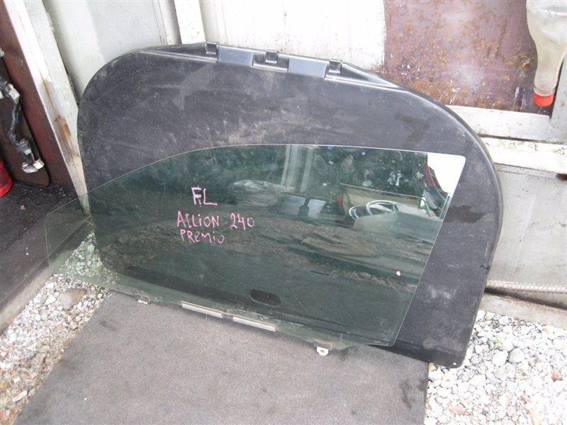 Стекло двери Toyota Allion ZZT240 1NZFE переднее левое