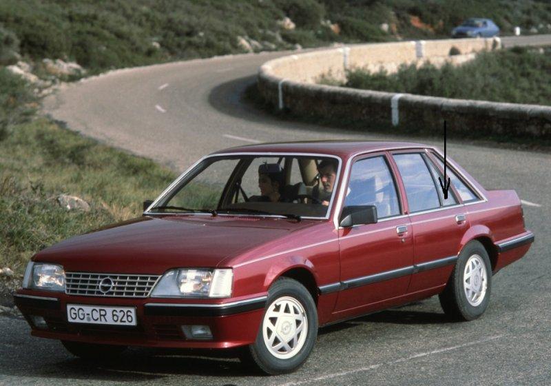 Форточка двери Opel Senator 1978 г. в задняя левая
